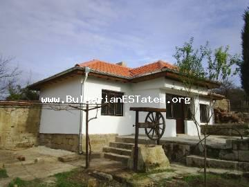 Adorable house is for sale located in a small village with peaceful life and beautiful nature in Varna region, Bulgaria.