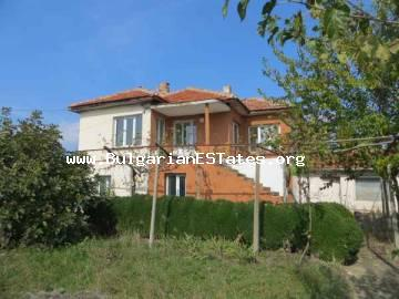 Buy advantageous two-storey renovated house for sale with new shop in the village of Venets, only 60 km from the seaside city of Bourgas and the sea.
