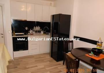 A large one-bedroom apartment is for sale in the city of Primorsko, Bulgaria.