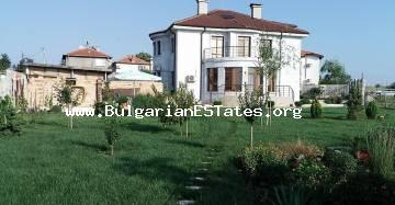 Amazing luxurious two-storey house in a preferred place for living in the village of Marinka 15 km from the center of Burgas, 5 km from the beach is for sale.