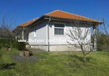 For sale is a new one-storey house in the village of Gorska Polyana, only 70 km from the city of Burgas and the sea