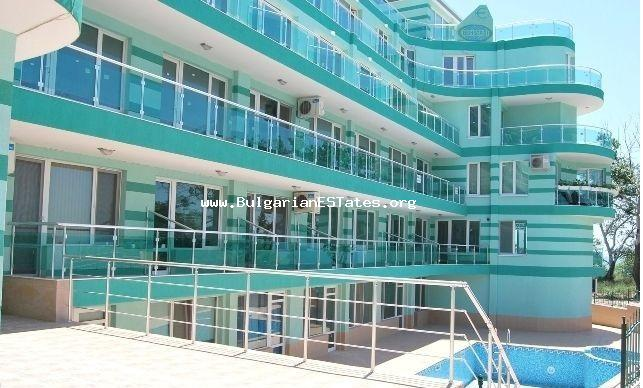 Inexpensive two-bedroom apartment is for sale on first line to the sea in Pomorie.