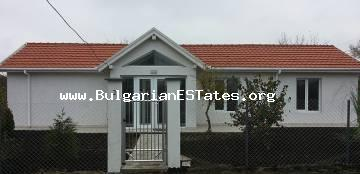 For sale is a new one-storey house in the village of Kamenar, 6 km away from the town of Pomorie and the sea.