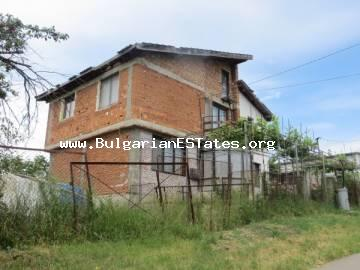 Affordable new large house in the village of Konstantinovo is for sale, just 10 km from the town of Bourgas and the sea.