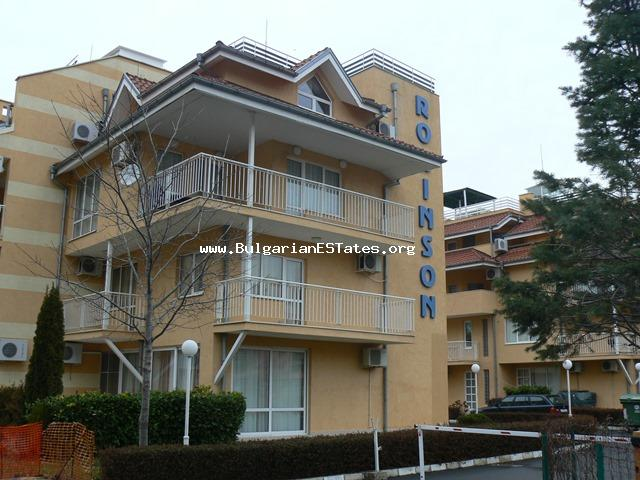 One bedroom apartment is offered for sale in the complex Robinson Garden, Sunny Beach.
