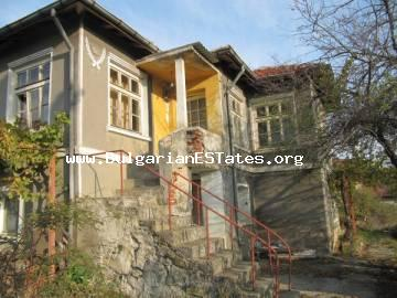 Two-storey house for sale in the village of Velika 4 km from the sea and the resort of Lozenets, Bulgaria.