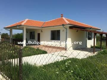 For sale is a new one-storey house in the village of Trastikovo, just 15 km from the city of Bourgas and the sea coast.