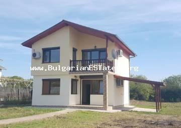 A new big two-storey house is offered for sale located only 15 km from the town of Bourgas, in the village of Trastikovo.