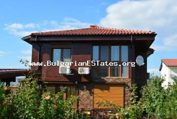 For sale is a house with furniture in a gated complex in the village of Gilyovtsa, 17 km from Sunny Beach and the sea.