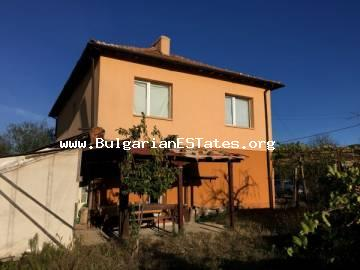 A renovated house is located in the village of Prohod, 40 km from the city of Bourgas and 12 km from the town of Sredets.