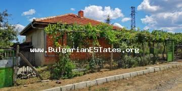 Affordable house is for sale in the village of Poroy only 15 km away from the sea and the resort of Sunny Beach.