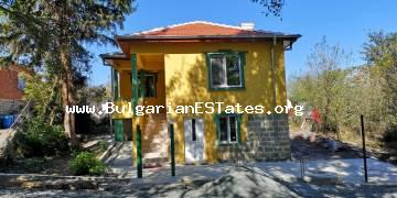 Renovated two-storey house is for sale in the village of Dyulevo, 25 km from the city of Burgas and the sea.