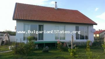 """Bulgarian Estates"" company offers a detached house for sale in the eastern part of the village of Kamenar, 6 km from the sea and the town of Pomorie."