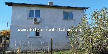A large brick two-storey house is for sale in the village of Gramatikovo, 30 km from the town of Tsarevo and the sea.