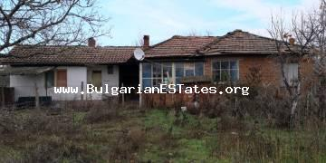 One-storey house is for sale in the village of Golyamo Krushevo, 60 km from the city of Burgas and the sea.