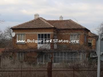 A solid two-storey house is for sale in the village of Golyamo Krushevo, 60 km from Burgas and the sea.