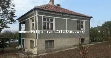 Two-storey house is for sale in the village of Veselie, 15 km from the sea and 35 km from the city of Burgas.