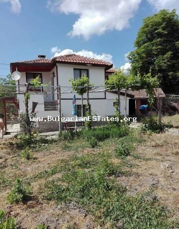 Renovated house is for sale at the foot of the Stara Planina mountains, in the village of Topolitsa, just 50 km from the city of Bourgas and the sea.