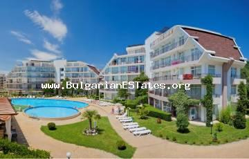 "One bedroom furnished apartment on the ground floor in a magnificent complex ""Sun Village"" next to the ""Action"" Water Park in Sunny Beach resort."