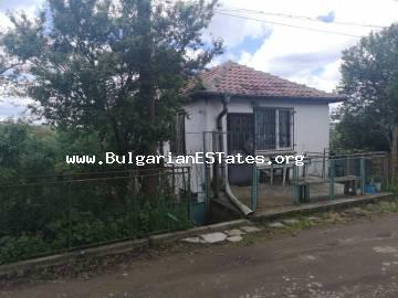 Two-storey house is for sale in the village of Drachevo 25 km from the city of Burgas and the sea.
