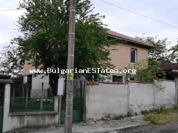 Inexpensive two-storey renovated house is for sale in the heart of the Strandzha Mountains in the village of Brodilovo, 12 km from the sea and the resort town of Tsarevo!!!