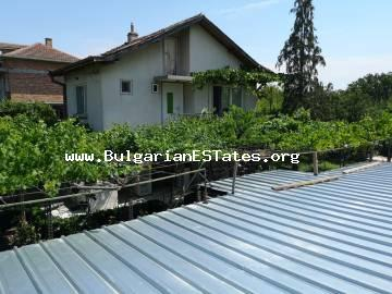 Massive two-storey house is for sale in the village of Polski Izvor, 15 km from the city of Burgas and the sea.