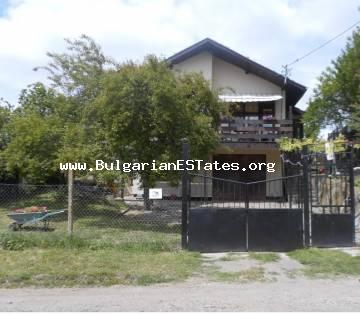 We are offering a lovely detached house for sale in the small village of Prisad, 17 km from Burgas city and close to the Black Sea, lakes and forests.