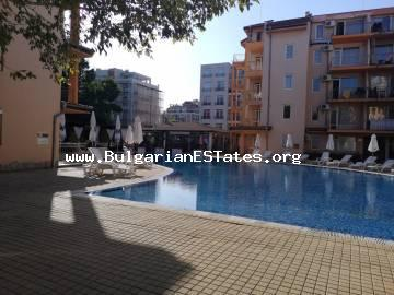 We offer for sale affordably a two-bedroom apartment in the complex Casa Brava 2, located in the central part of the resort Sunny Beach, about 500 m from the beach and 800 m to Action Aquapark.