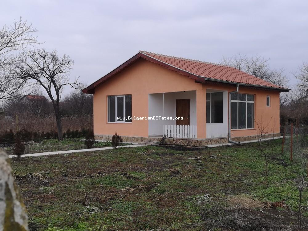 New house for sale in the village of Trastikovo, just 15 km from Bourgas and the Black Sea coast.