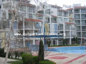 Furnished two-bedroom apartment for sale in Sunny Beach resort, in «Elite 2» complex, near Cacao Beach.