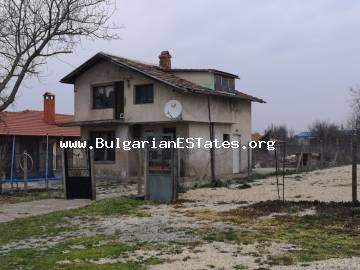 Two-storey house for sale in the village of Polski Izvor, only 25 km from the city of Burgas and the sea, Bulgaria.