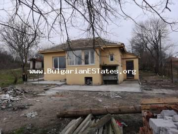 We sell a renovated, one-storey house in the village of Debelt, 20 km from Burgas and the sea, Bulgaria.