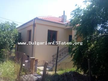 Renovated house is for sale in the heart of the Strandzha Mountains, in the village of Gramatikovo, 35 km from the town of Tsarevo and the sea and only 70 km from Burgas, Bulgaria.