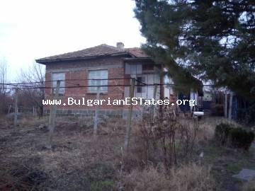 Affordable house for sale with a large yard in the village of Rusokastro, just 27 km from the city of Burgas and the sea, Bulgaria.
