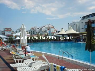 "Affordable spacious studio for sale in the ""Elite 3"" complex, just 300 meters from the beach, Sunny Beach resort, Bulgaria."