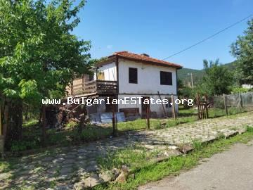 Partially renovated house is for sale in the village of Brodilovo, only 12 km from the town of Tsarevo and the sea, and at the foot of Strandzha Mountain, Bulgaria.