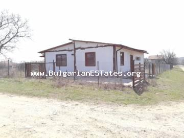 New one-storey house for sale in an ecologically clean area with unspoilt nature, Panitsovo village, Bulgaria, 16 km from the sea and Obzor, 32 km from Sunny Beach and 55 km from Burgas.
