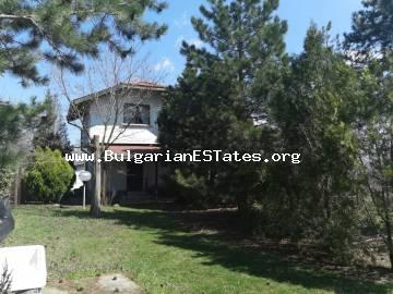 Buy a two-storey house in an ecologically clean area with unspoilt nature in the village of Panitsovo, Bulgaria, 16 km from the sea and Obzor, 32 km from Sunny Beach and 55 km from Burgas.